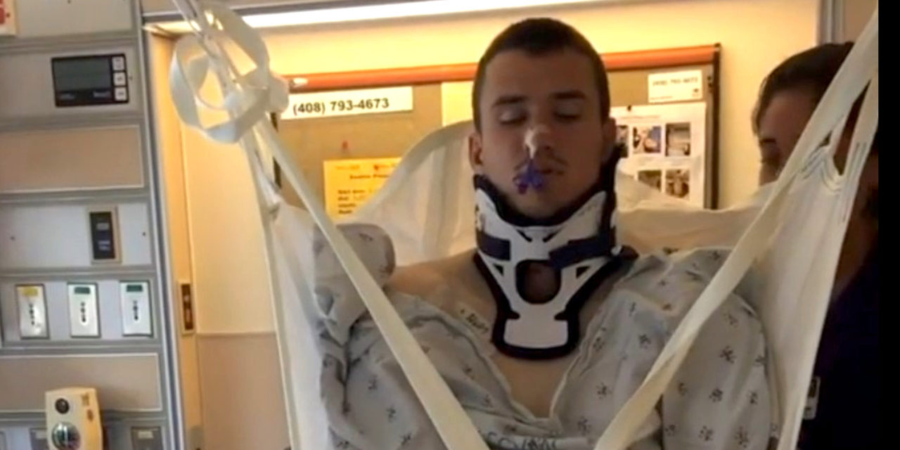 VIDEO: Paraplegic Rugby Player Stands Up on His Own For the First Time in 1,220 Days